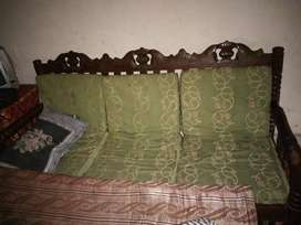 double bed ,dressing,sofa set wooden