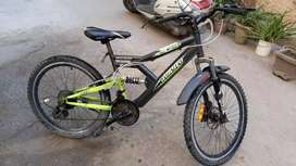 Cycle with mud guard