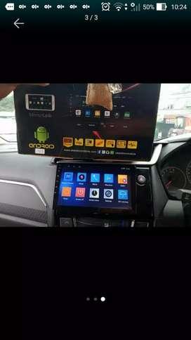 Tv android 9 inch merek skeleton free kamera mundurr