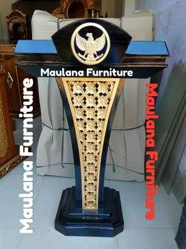Mimbar ukir podium jati furniture maulana