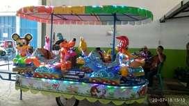 kereta panggung fiber hewan mini coaster odong goyang