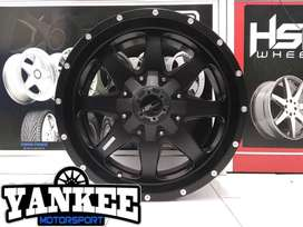 Velg Mobil Fortuner Ring 20 BULA HSR WHEEL Semi Matte Black