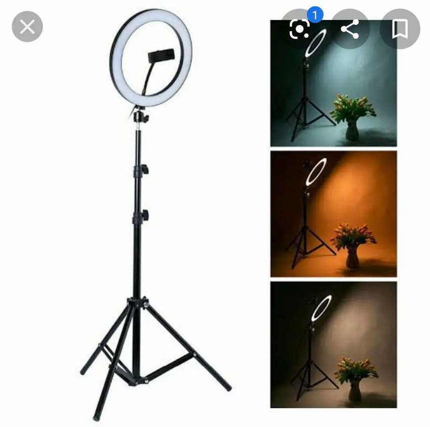Full Size Ring Light & 7 Fit Stand 0