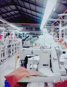 Pabrik Garment aktif dijual 65M diSoloraya