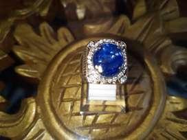 Batu Blue Sapphire/Safir Africa Size Kantoran