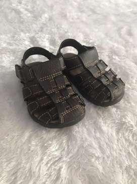 Sepatu sendal anak cowok bahan kulit