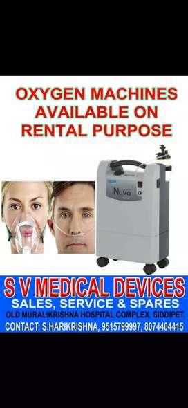 Oxygen,  Bipap,  CPAP Machines Rentas sales