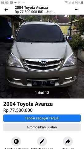 Dijual Avanza E tahun 2004 harga 75.000.000