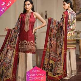 3 Piece Unstitched Linen Suits 2020 Buy 2 Suit And Get 10% Discount