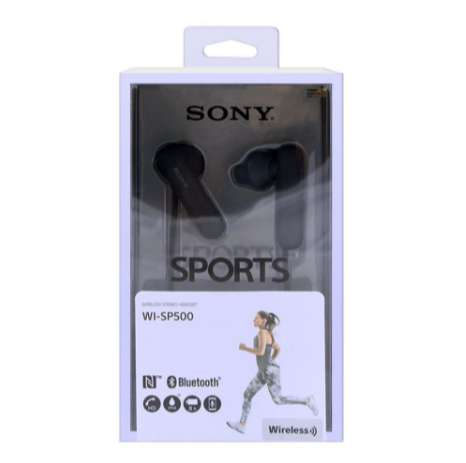 Sony WI-SP500 splash resistant wireless In-Ear Headphones-Black