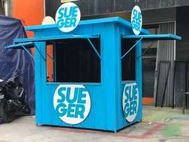 STAND BOOTH CONTAINER MURAH / BOOTH SEMI CONTAINER USAHA FRENCHISE