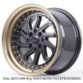 Velg mobil Model Celong Type DOBO Ring 16 lebar 8-9 H 4x100 4x114,3