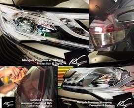 Stiker Pelindung Kaca Lampu Smoke Hybrid RS Premium Wrapping Mangele