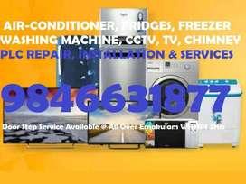 AIR-CONDITIONER,FRIDGES,AC,WASHING MACHINE,CCTV,TV,CHIMNEY TECHNICIAN