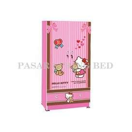 FreOkir WDHK1601BF KeaPanel Lemari Pakaian Baju Anak Minimalis 2 Pintu