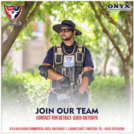 Security Guard required at Onyx Security