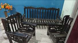3+1+1 seater Sofa. Current condition is solid. Wood is Very strong.