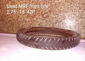 SELL Used MRF front tyre 2.75 - 18  42P