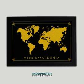 IP026 Poster Hiasan Dinding Today Here Tomorrow The World 45x30cm