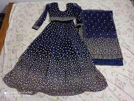 Reception dress -blue lahenga