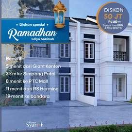 DISKON 50JT+GRATIS BIAYA².Griya Sakinah Rumah Murah Kota Palembang SHM