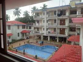 Independent villa fully furnished with common swimming pool in anjuna