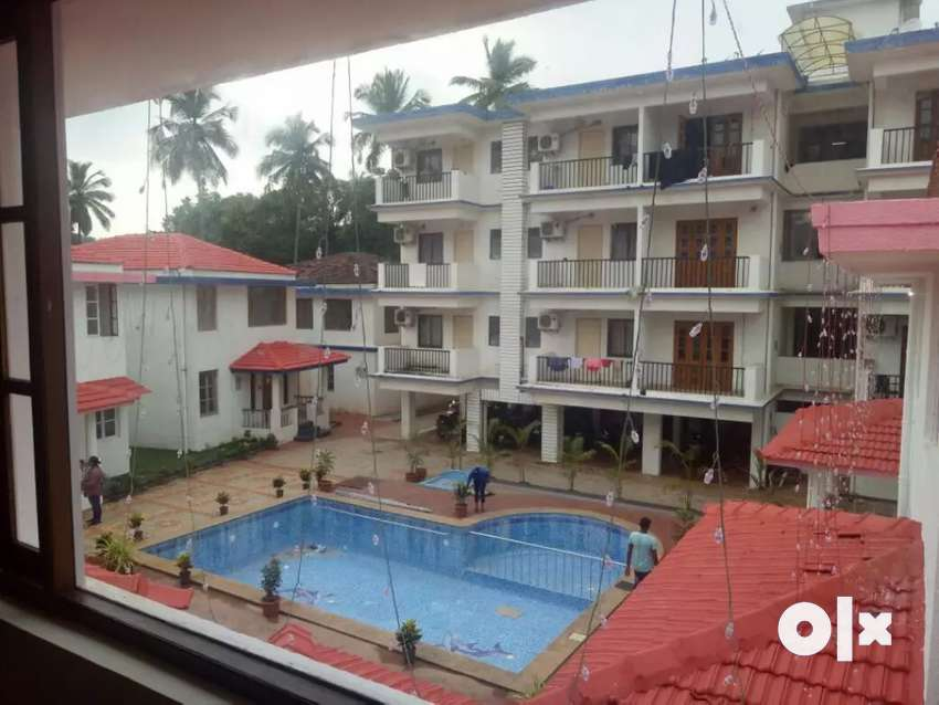 Independent villa fully furnished with common swimming pool in anjuna 0
