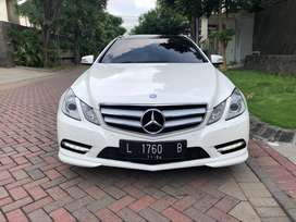Mercedes benz e250 coupe 2011 white on red