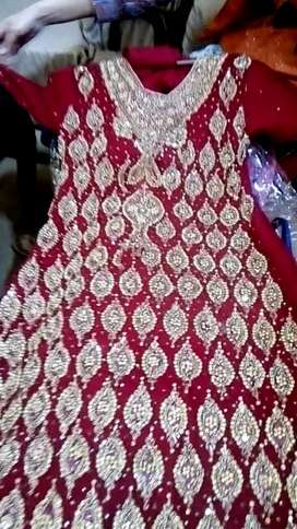 Used macxi wedding wear red bridal dress