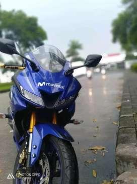 Dijual yamaha YZFR15 tahun 2018 movistar limited edition
