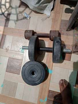 Gym dumbles totel weight 14 kg