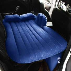 heavy duty flocking inflatable travel back seat car mattress air bed