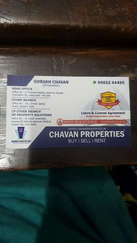 1 bhk premium flat for sell in low budget at evershine city