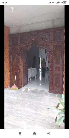 Pintu kusen Gebyok Kayu Jati cobian