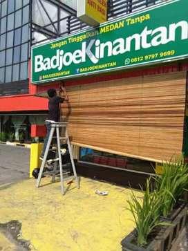 Tirai rumbia atau bambu