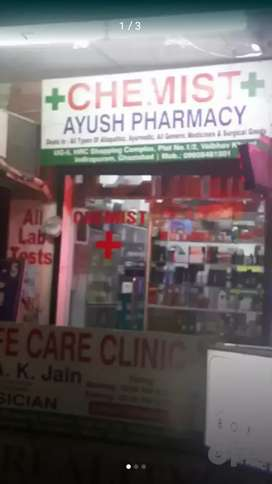 Ready to move Shop for sale in Vaibhav Khand