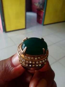 Jual cincin jambrut hijau lumut
