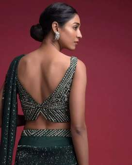 Designer chaniya choli, gown, ghaghra, wedding dress,handmade jewelry,