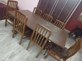 8 Seater shisham wood dining table with chair