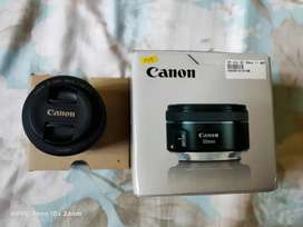 Lensa Canon EF 50mm Likenew