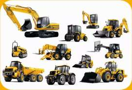 All machinery available for rent