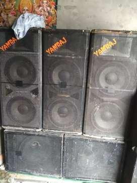 Yamraj Dj sound selling 3top 2bass with janrator