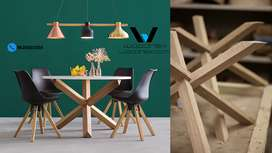 Wooden Modular Dining Table New Zealand Imported Pinewood Furniture