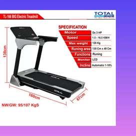 big treadmill elektrik TL 166 incline automatic K 19