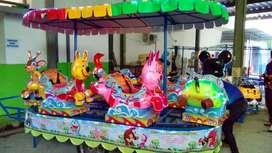 wahana kereta panggung animal fiber warna cerah odong 2 DO