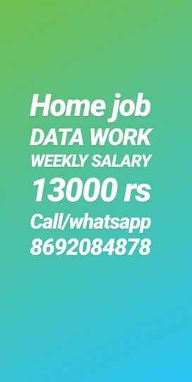 Good performance good income hand writing job weekly salary 13000