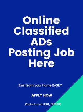 Online Classified AD Posting Job for students to earn in free time