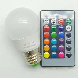 BONDA Lampu Bohlam RGB dengan Remote Control E27 3W - B2 - White