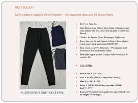 Best Seller - Dry-Fit Men's Joggers 95% Polyester – 5% Spandex