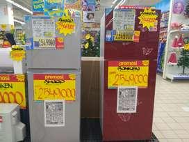 Kredit kulkas 2 pintu tanpa dp gratis 1 x cicilan